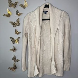 🦋🌙 Old Navy - Cream Cable Knit Cardigan